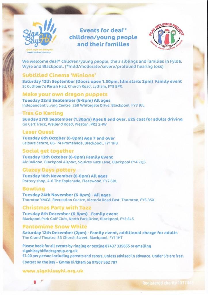 Programme - Sept - Dec FV
